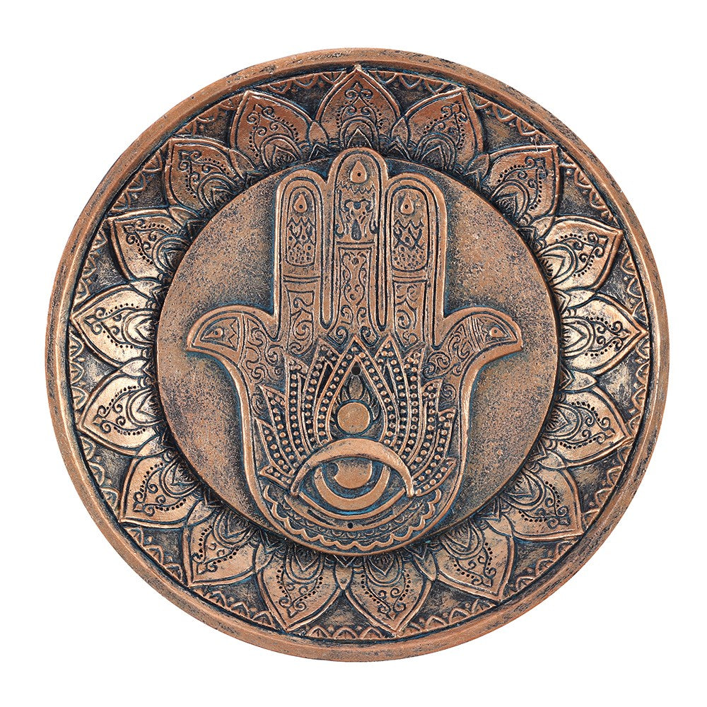 Hand of Hamsa Incense Holder Plate - Enchanted Gifts by Karen