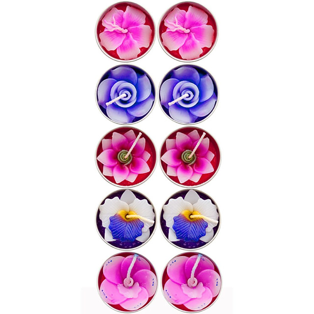 Scented Flower Candles - pack of 10 - Enchanted Gifts by Karen