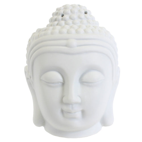 Buddha Head Oil Burner - White - Enchanted Gifts by Karen