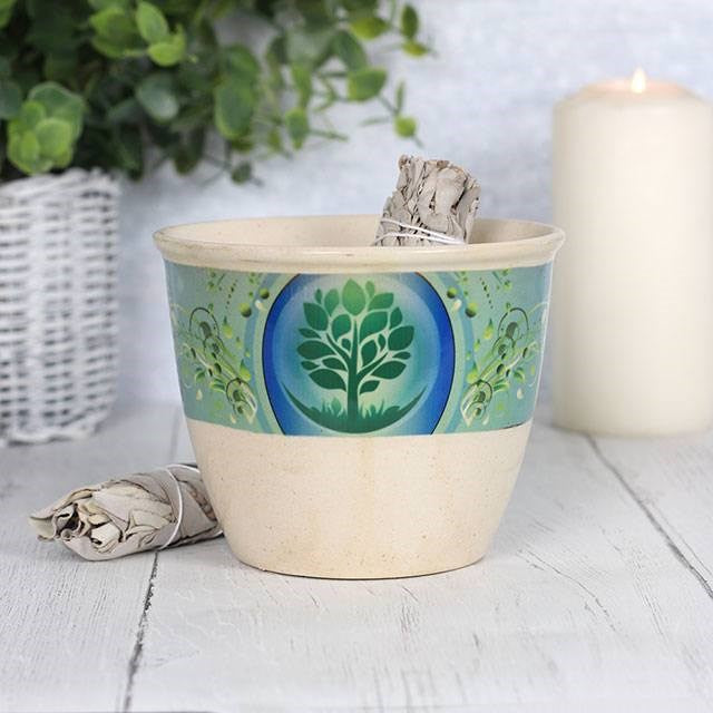 Tree of Life Smudge Bowl - Enchanted Gifts by Karen