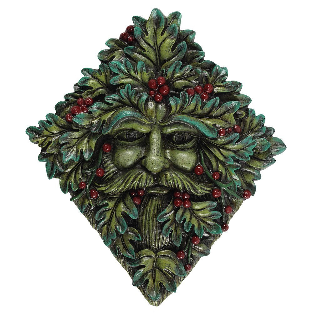 Festive Green Man Wall Plaque - Enchanted Gifts by Karen
