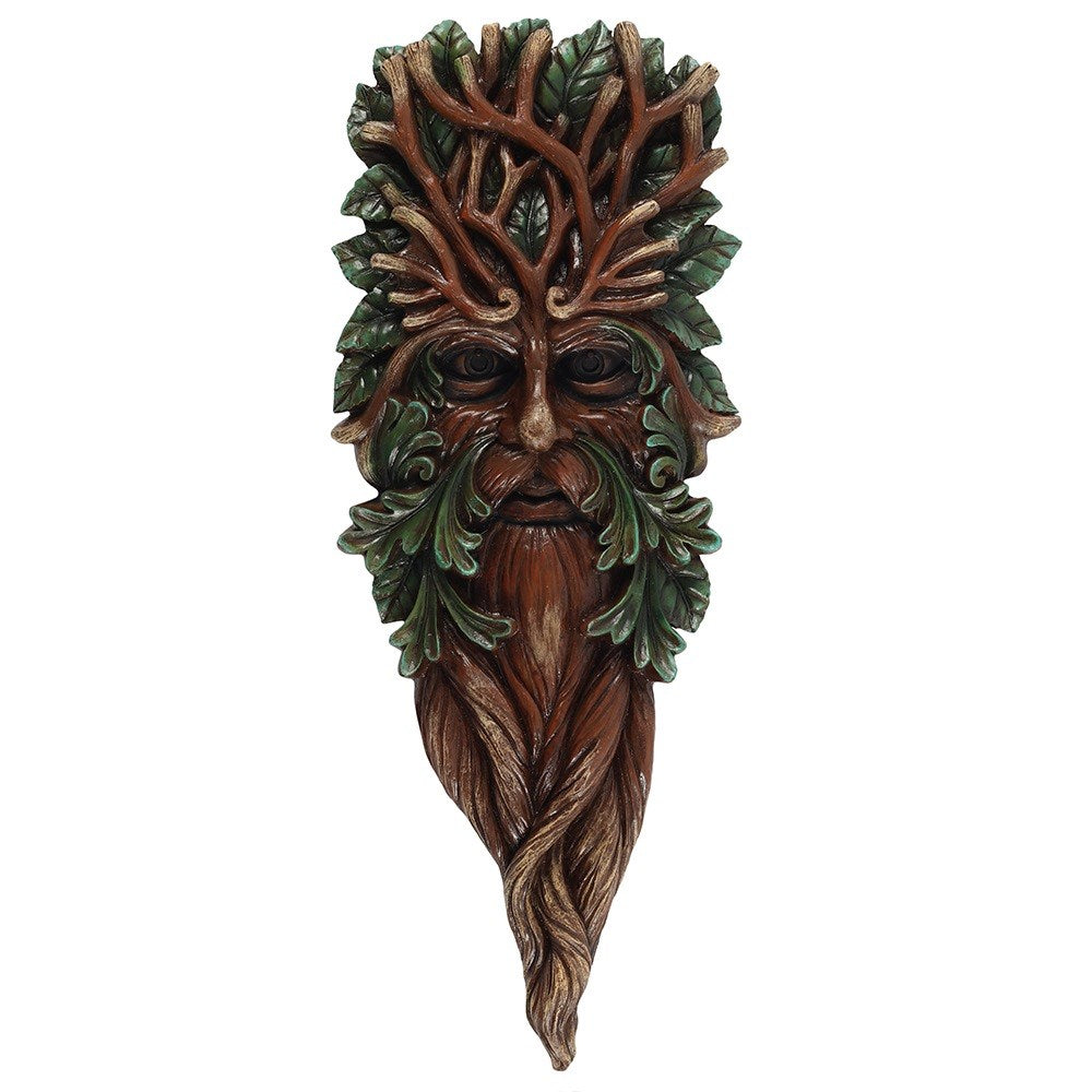 Green Man Wall Plaque 42 x 15cm - Enchanted Gifts by Karen