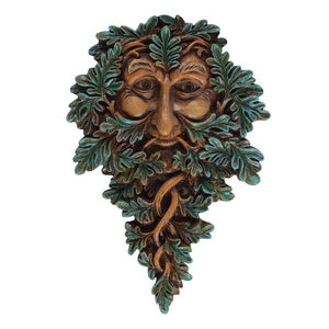 Green Man Wall Plaque 19 x 13cm - Enchanted Gifts by Karen