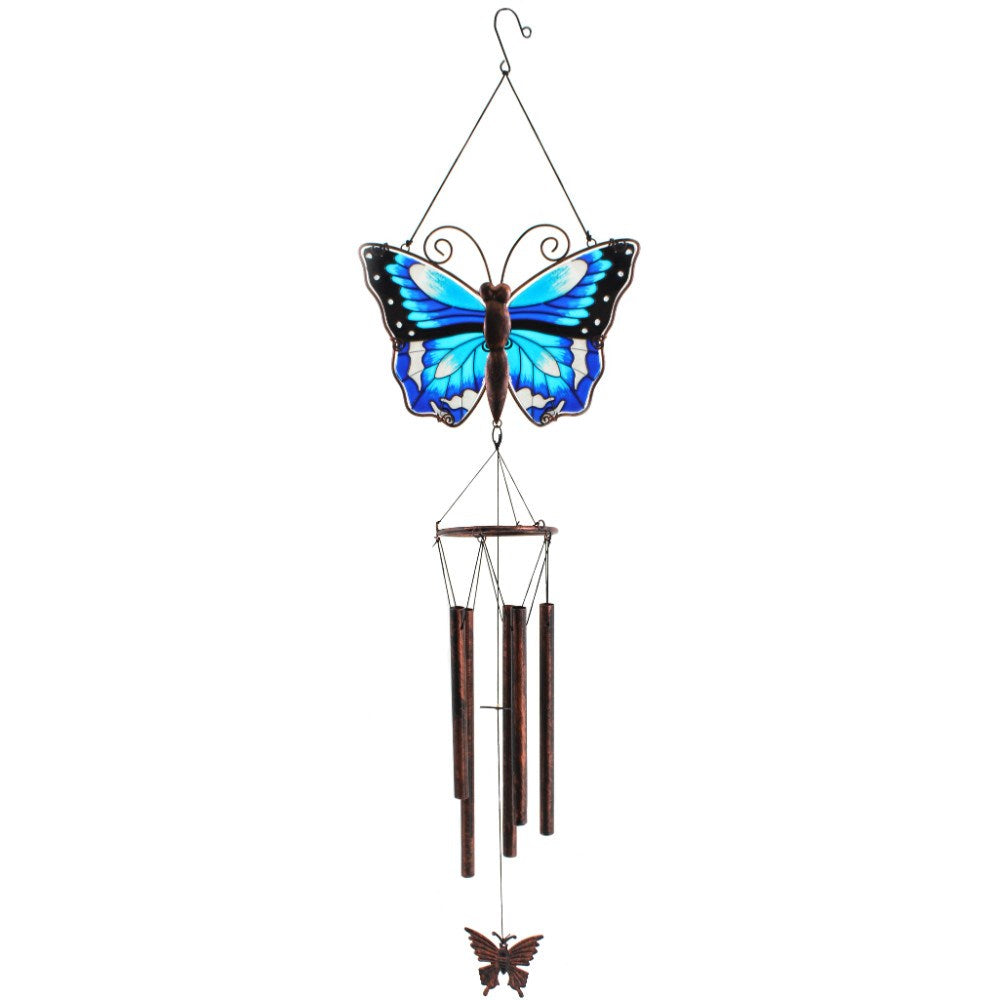 Large Blue Butterfly Windchime - Enchanted Gifts by Karen