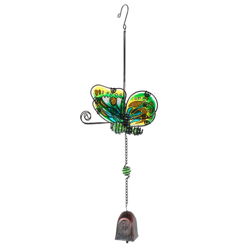 Green Butterfly Dangly Windchime - Enchanted Gifts by Karen