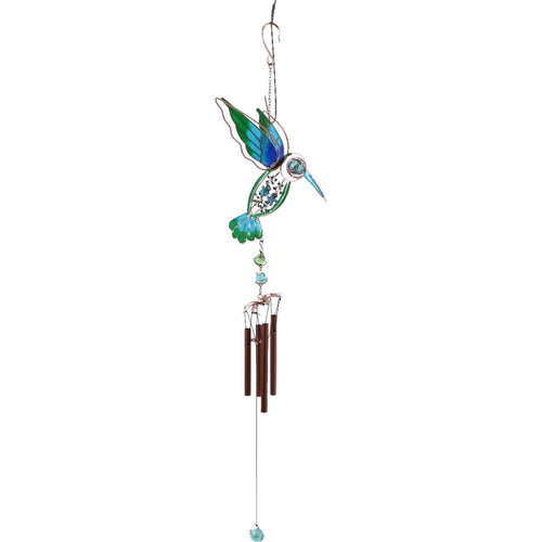 Blue/Green Hummingbird Windchime - Enchanted Gifts by Karen