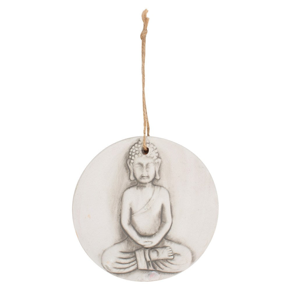 Small Round Terracotta Buddha Wall Plaque - Enchanted Gifts by Karen