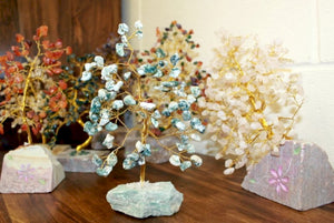 Gemstone Tree - Rose Quartz 160 gem - Enchanted Gifts by Karen
