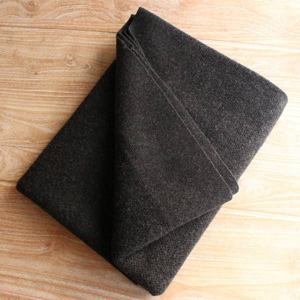 Lambswool Mini Chunky Throw - Slate