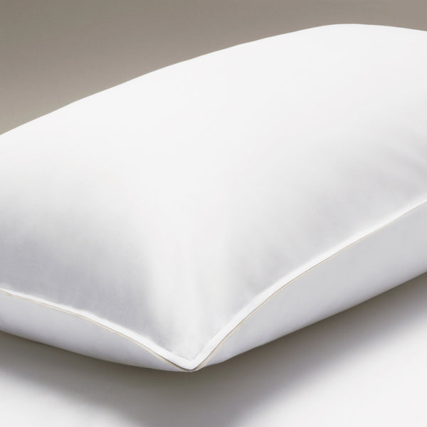 The Classic Collection Housewife Pillowcase – White with Grosgrain Trim - Josephine Home