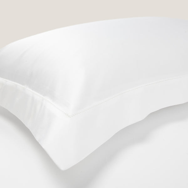 The Hemstitch Oxford Pillowcase – White - Josephine Home