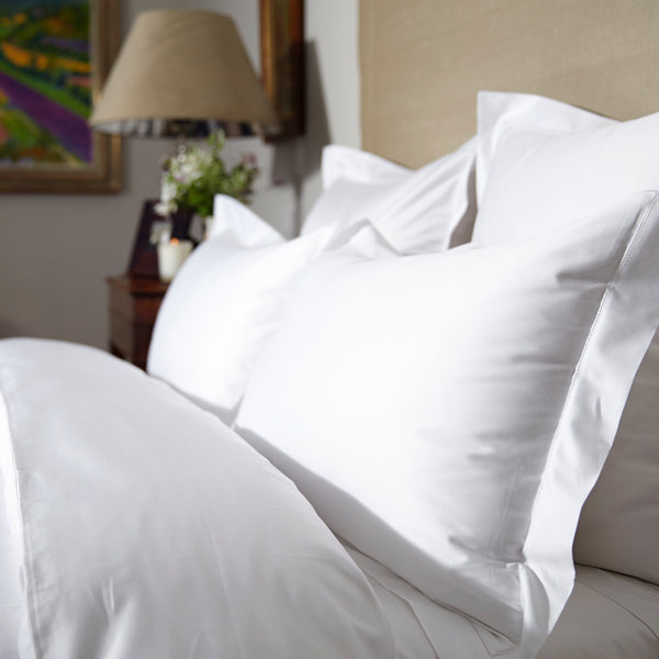 The Hemstitch Duvet Cover – White - Josephine Home