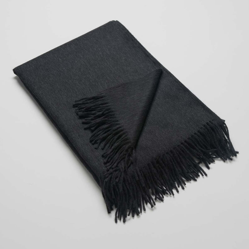 Lambswool Angora Throw Slate - Josephine Home