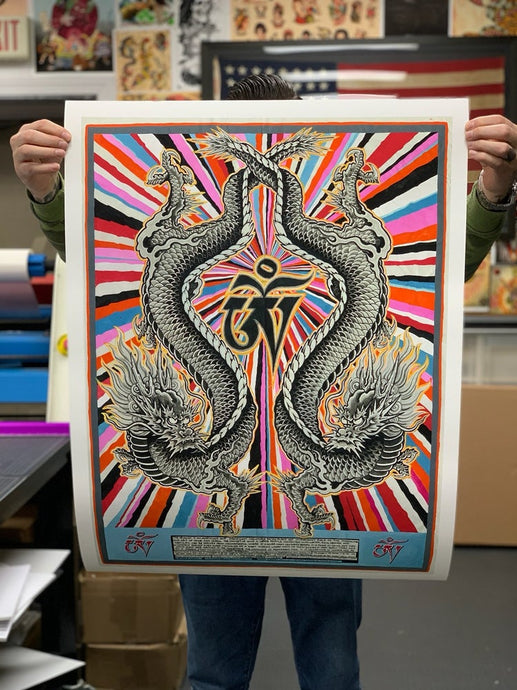 Dragons & OM : Limited edition of 27 high quality archival prints, signed and numbered
