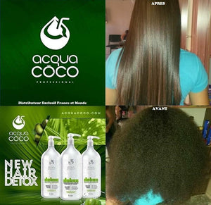 Acqua coco Brazilian hair straightening product.
