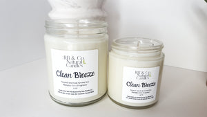 Clean Breeze Scented Natural Soy Candle |