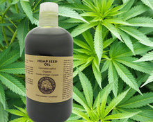 Load image into Gallery viewer, 100% Pure Hemp Seed Oil (organic, cold pressed,