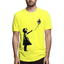 Load image into Gallery viewer, Novelty Design Ethereum Balloon Girl Banksy Loves Ethereum Series T shirt Male 3D Print T-Shirt Cotton Big Size Camiseta