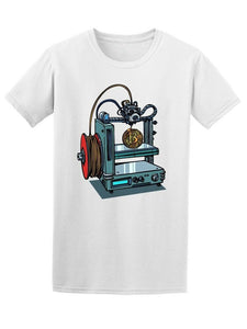 3D Printer Manufacturing Bitcoin Men'S Tee -Image By Fashion Classic Tee Shirt