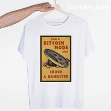 Load image into Gallery viewer, Bitcoin T-shirt O-Neck Short Sleeves Summer Casual Fashion Men And Women Tshirt