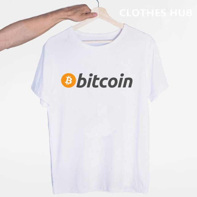 Bitcoin T-shirt O-Neck Short Sleeves Summer Casual Fashion Men And Women Tshirt