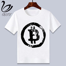Load image into Gallery viewer, Currency Bitcoin Logo Baby Boy Girl Tshirt Kids Boys Top Child Print Tee Funny T-shirts Summer Short Sleeve