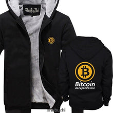 Load image into Gallery viewer, Bitcoin Accepted Here Crypto Currency hoodie BTC Privacy Trading Lambo Moon men summer hoodies male brand coat sbz3378