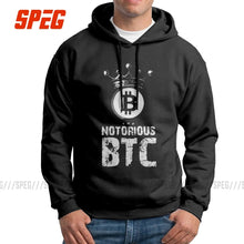 Load image into Gallery viewer, The Notorious Bitcoin BTC Man Sweatshirt 100% Cotton Casual Hoodie White Pullovers