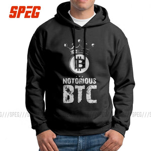 The Notorious Bitcoin BTC Man Sweatshirt 100% Cotton Casual Hoodie White Pullovers