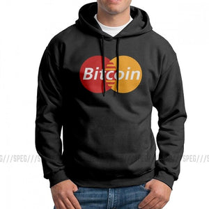 Bitcoin Card Crytpocurrency Blockchain Funny Man Sweatshirt Funny Pure Cotton Hoodies Printed Hooded Tops