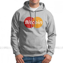 Load image into Gallery viewer, Bitcoin Card Crytpocurrency Blockchain Funny Man Sweatshirt Funny Pure Cotton Hoodies Printed Hooded Tops