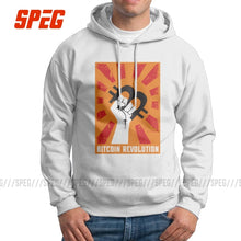 Load image into Gallery viewer, Funny Hoodie Man Bitcoin Revolution Pure Cotton Hooded Sweatshirts High Quality Pullovers