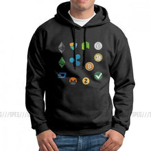 Load image into Gallery viewer, Men's Bitcoin Cash Fork Ethereum Nem Dash Monero Zcash Mining NEO Litecoin Ripple Cryptocurrency Hoodies Hooded Sweatshirt Tops