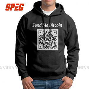 Stylish Hoodies Man Crypto Currency Hoodie Send Me Bitcoin Purified Cotton Sweatshirt Wholesale Hoodie Shirt