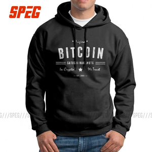 Men's Hooded Sweatshirt Bitcoin Original Satoshi Crypto Logo Pure Cotton Travel Fashion Hoodie Hoodie Shirt
