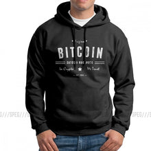 Load image into Gallery viewer, Men's Hooded Sweatshirt Bitcoin Original Satoshi Crypto Logo Pure Cotton Travel Fashion Hoodie Hoodie Shirt