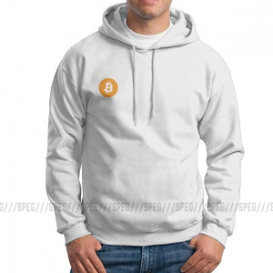 Men Bitcoin In Cryptography We Trust Hoodies Travel 100% Cotton Hooded Sweatshirt Casual Hooded Tops