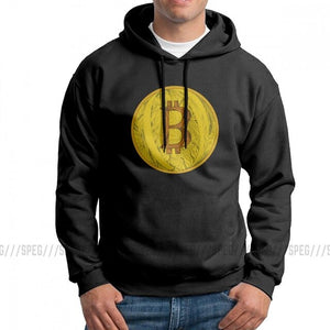Funny Hoodie Men's Bitcoin Doodle Art Cryptocurrency Purified Cotton Hooded Sweatshirt Summer Style Pullovers
