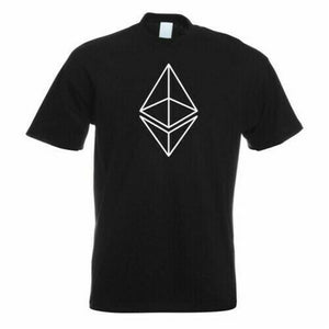 Ethereum Kryptowährungen Camiseta Motivo Estampado Divertida Diseño Newest Fashion Tee Shirt