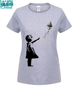 Latest Design Funny Ethereum T Shirts S-3XL Boys Family  Shirts