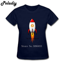 Load image into Gallery viewer, Custom Made Women Short Sleeve Clothes Female Bitcoin To Moon Shirt T Shirts Women 3d Printed Lady 100% Cotton T Shirts