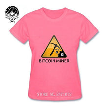 Load image into Gallery viewer, Interesting Bitcoin women T Shirt 2020 fashion Tee Shirt Short Sleeves o-neck Brand Designer ladys T-Shirt