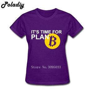 Printed Bitcoin Plan T-Shirts Lady Pre-cotton T Shirts Funny Wholesale Cotton Bitcoins slipknot rainbow six siege Women T Shirt