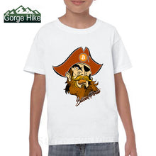 Load image into Gallery viewer, Pirate T Shirts Bitcoin In Cryptography Kids O Neck Funny Short Sleeve Cryptocurrency 3D T-Shirt Child Funky Tees Cotton Clothes