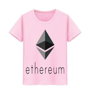 Ethereum Virtual Currency print T-shirt Children Skateboard T Shirt Boy Girl cotton Tshirts Funny Bitcoin Teeshirt kids tops tee