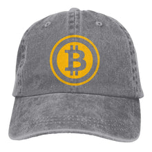 Load image into Gallery viewer, Bitcoin Logo Baseball Cap Dad Hat Adjustable Cap Unstructured Hat Visor Cap