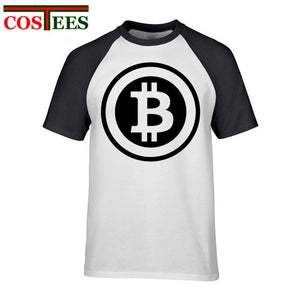 Trendy fashion Designer Bitcoin T Shirt Men Women Creative digital Print T-Shirt Man Cotton Regular Sleeve bitcoin logo Tops Tee