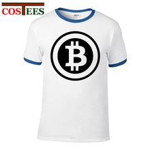 Load image into Gallery viewer, Trendy fashion Designer Bitcoin T Shirt Men Women Creative digital Print T-Shirt Man Cotton Regular Sleeve bitcoin logo Tops Tee