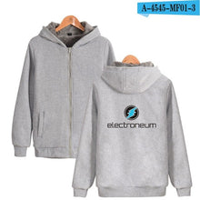 Load image into Gallery viewer, Electroneum Logo Thick Hoodie Zipper Blockchain Electroneum Cotton Thick Warm Hoodie Bitcoin Electroneum Sweatshirt
