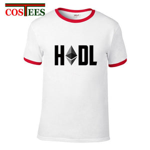Hodl Ethereum T Shirt Men Male Leisure T-shirt bticoin Customized oversize Ethereum Cryptocurrency tshirt Camiseta masculina Tee